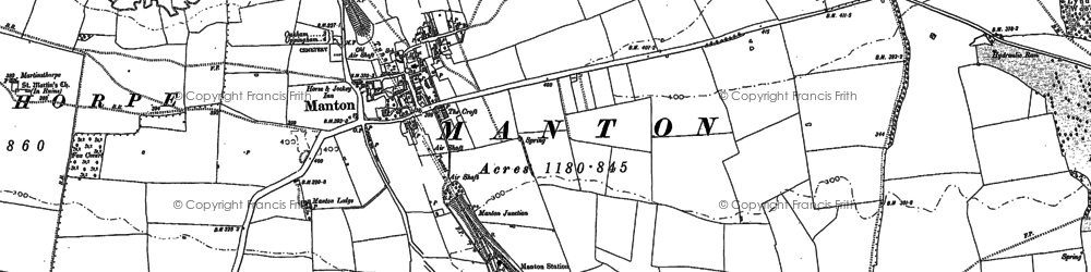 Old map of Manton in 1884