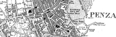 Old map of Ardechive centred on your home