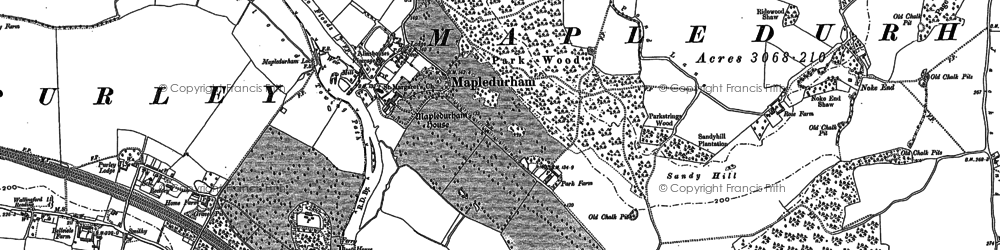 Old map of Mapledurham in 1910
