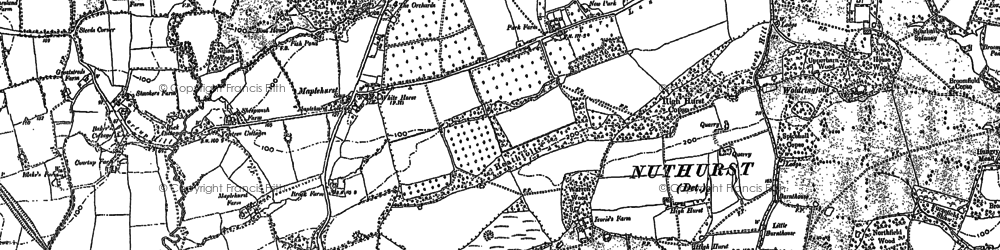 Old map of Woldringfold in 1896