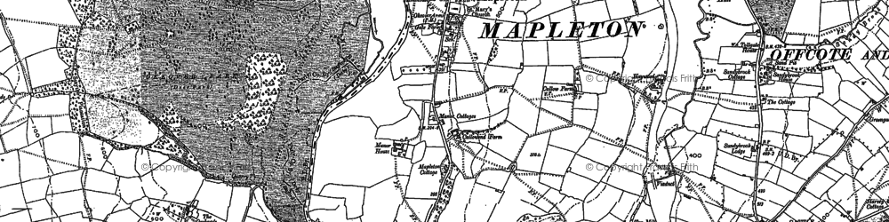 Old map of Mapleton in 1880