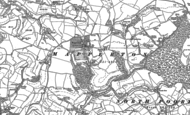 Old Map of Mapperton, 1886