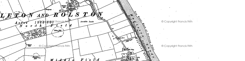 Old map of Mappleton in 1899