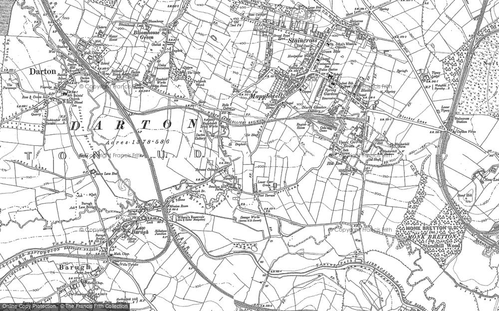 Map of Mapplewell, 1851 - 1891