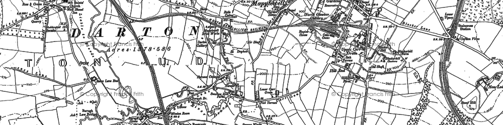 Old map of Mapplewell in 1851