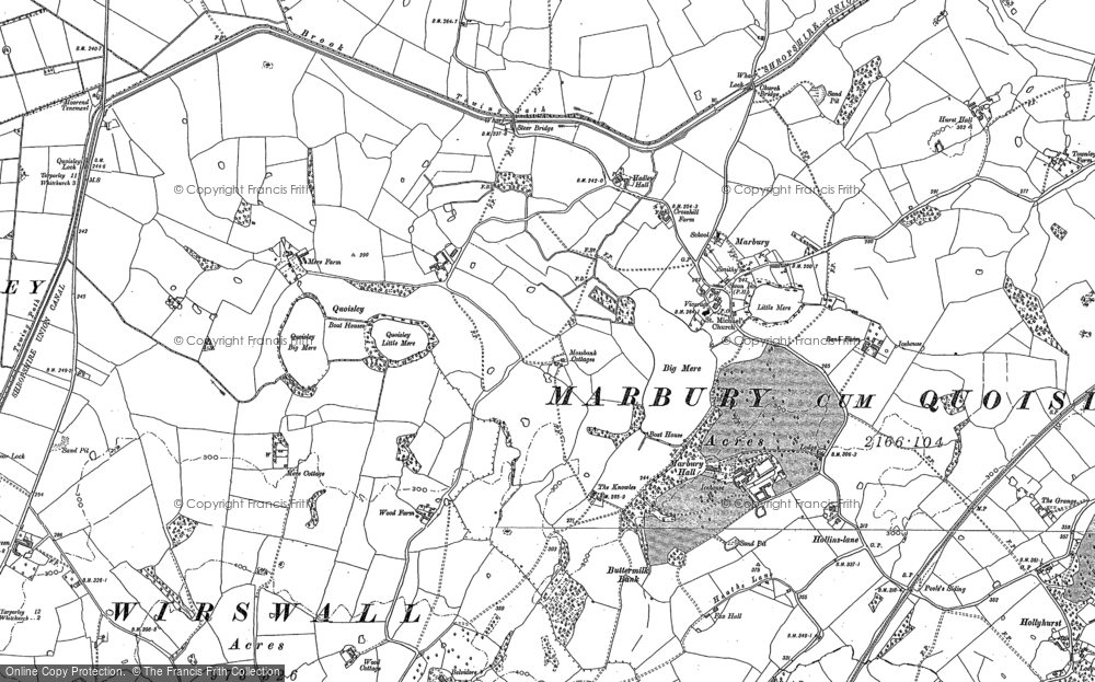 Old Map of Marbury, 1897 - 1909 in 1897