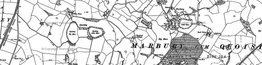 Old map of Marbury in 1897