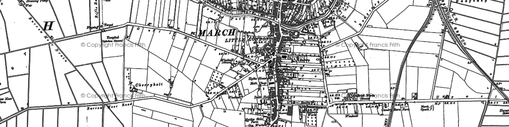 Old map of March in 1886