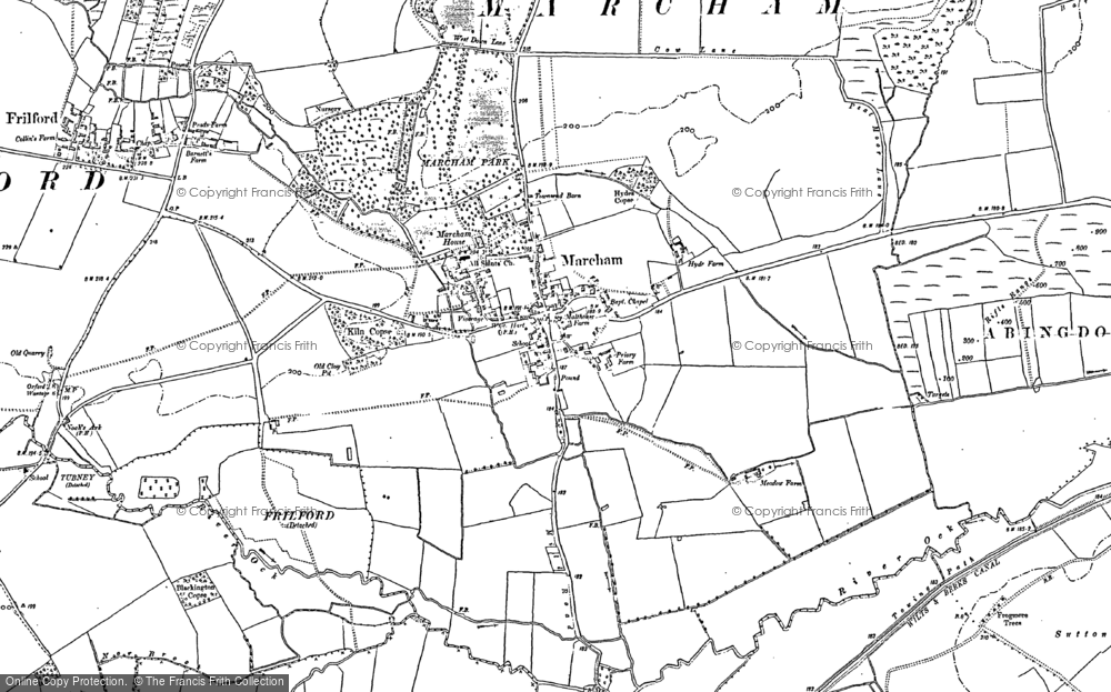 Map of Marcham, 1898 - 1911