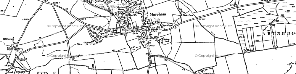 Old map of Marcham in 1898