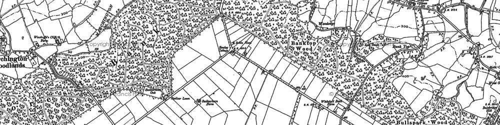 Old map of Banktop Wood in 1882