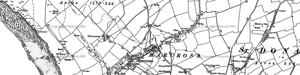 Old map of Marcross in 1897
