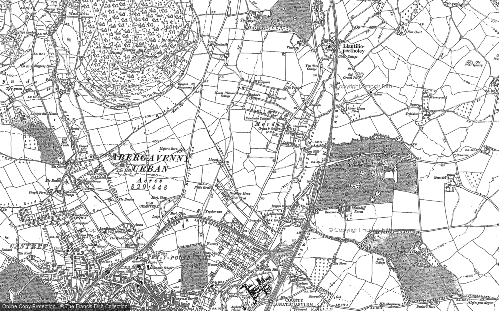 Old Map of Historic Map covering Afon Gafenni in 1899