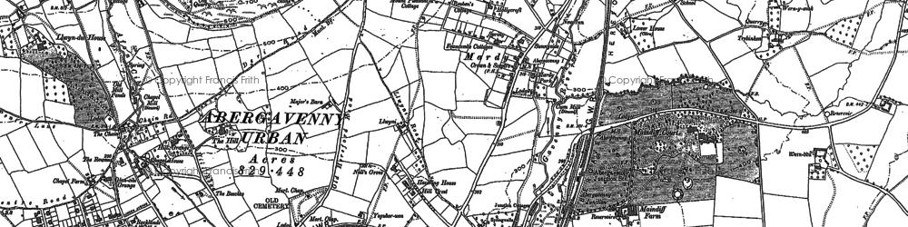 Old map of Afon Gafenni in 1899