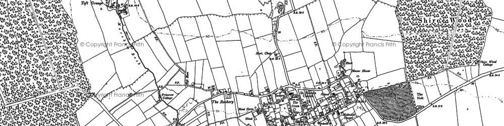 Old map of Mareham le Fen in 1887