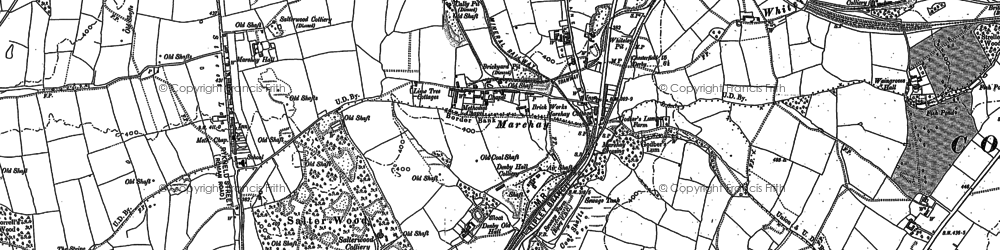 Old map of Marehay in 1880