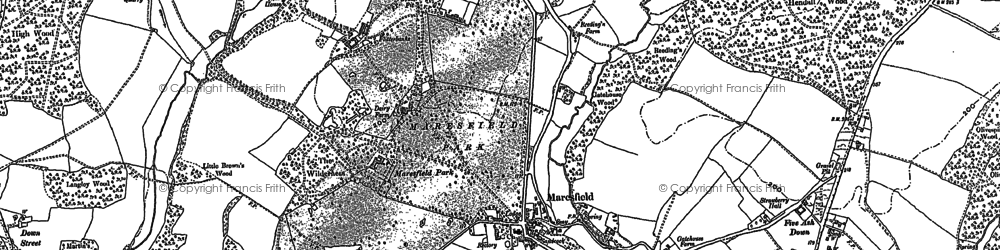 Old map of Maresfield in 1873
