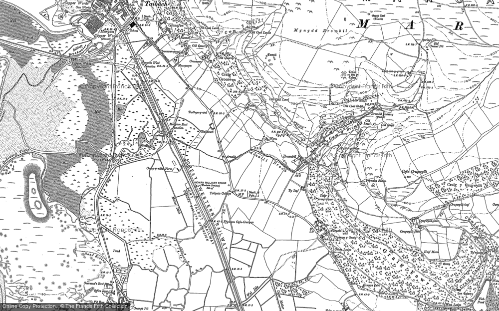 Old Map of Margam, 1914 in 1914
