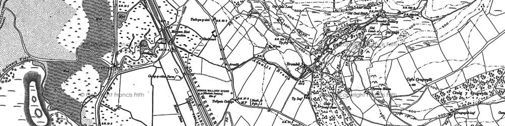 Old map of Margam in 1914
