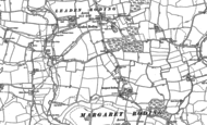 Old Map of Margaret Roding, 1895