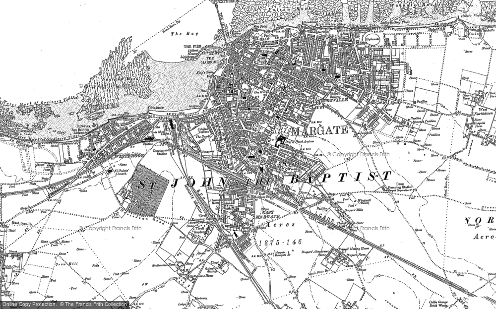Old Map of Margate, 1905 in 1905