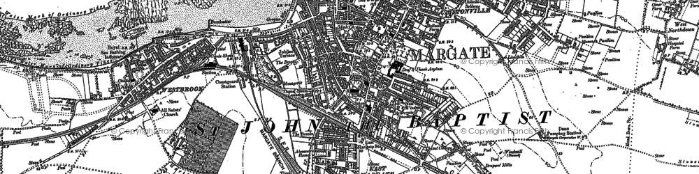 Old map of Westbrook in 1905