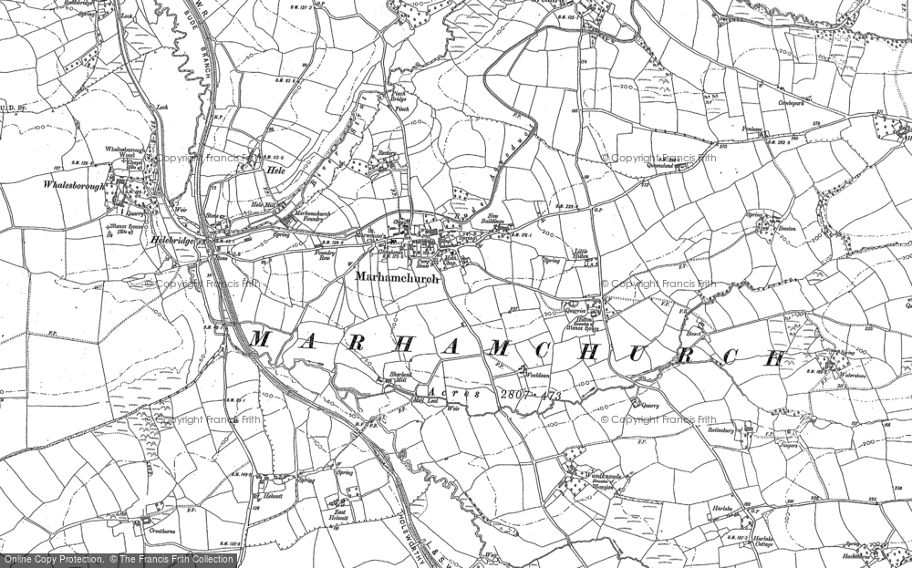 Old Map of Historic Map covering Woolstone in 1905