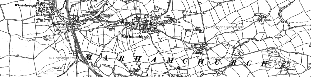 Old map of Marhamchurch in 1905