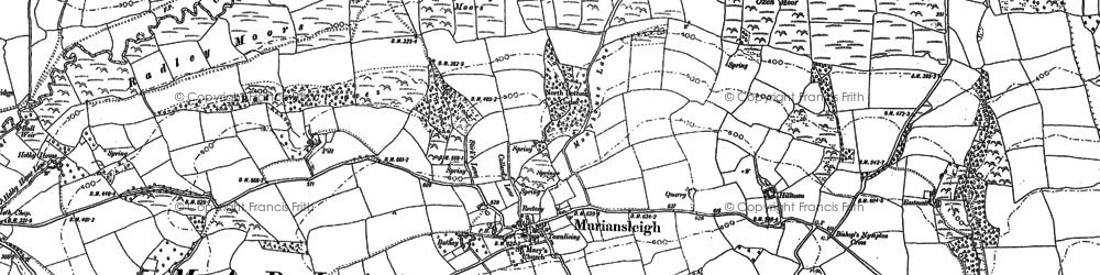 Old map of Tidlake in 1886