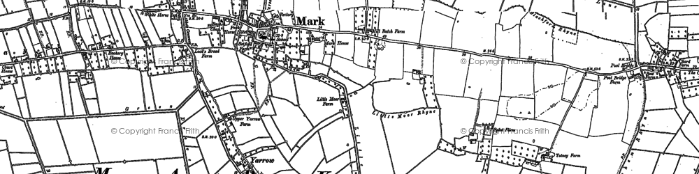 Old map of Mark in 1884