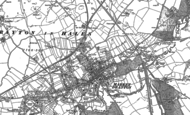 Old Map of Market Drayton, 1879