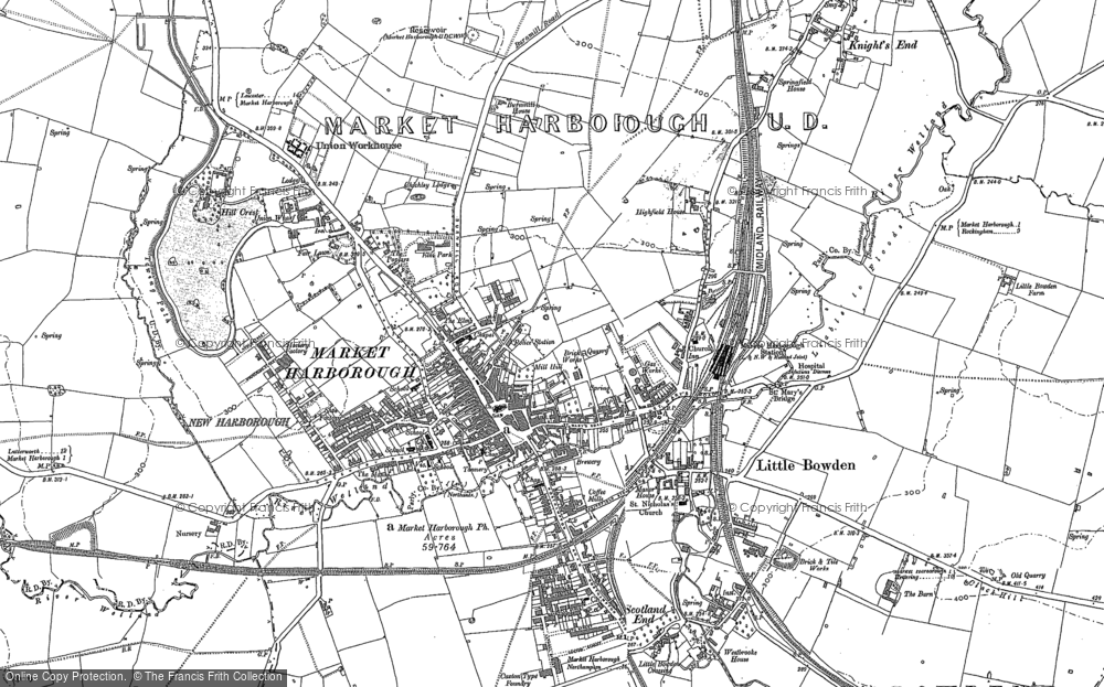 Old Map of Market Harborough, 1899 - 1902 in 1899