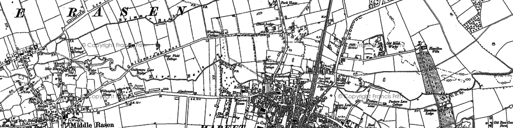 Old map of Market Rasen in 1886