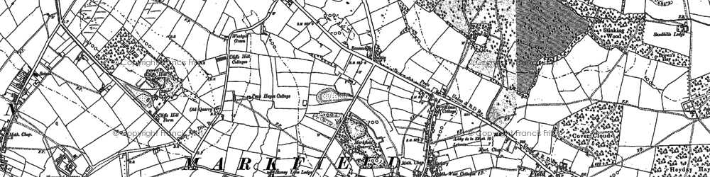 Old map of White Hill in 1883