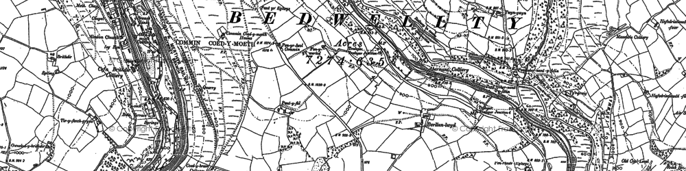 Old map of Markham in 1916
