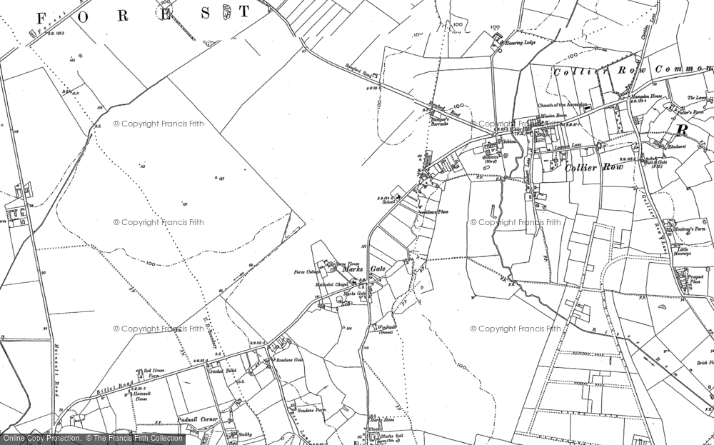 Old Map of Marks Gate, 1895 in 1895