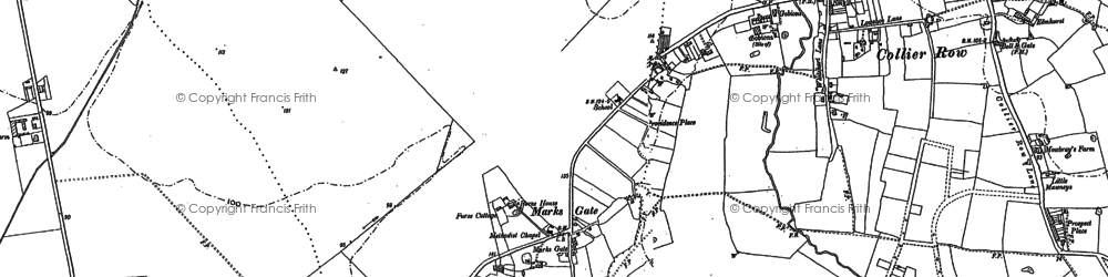 Old map of Marks Gate in 1895