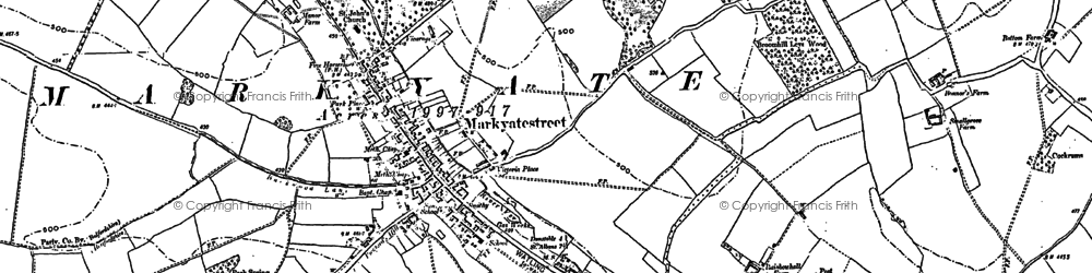 Old map of Roe End in 1899