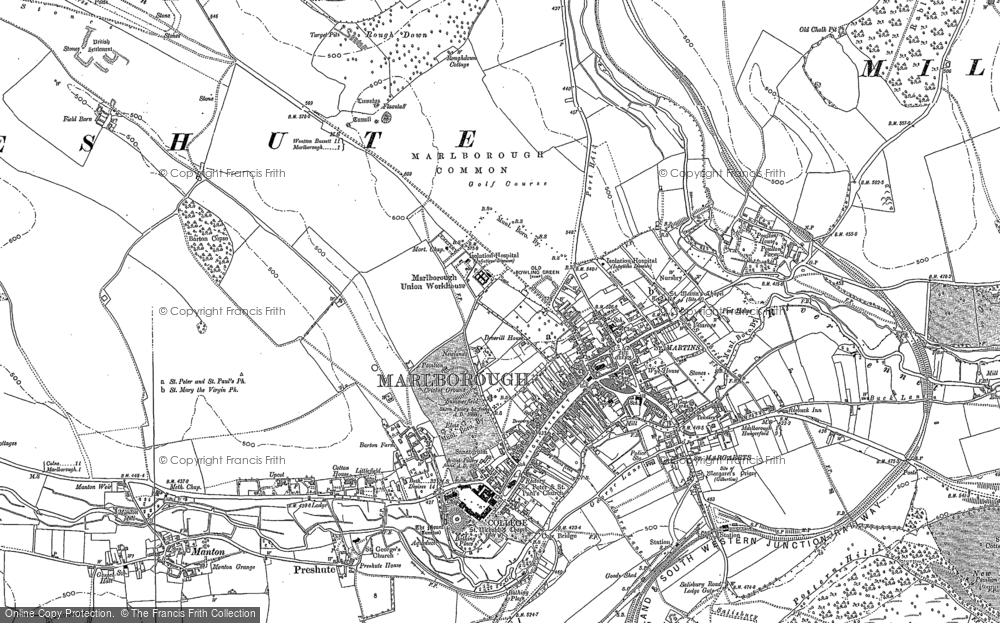 Old Map of Marlborough, 1899 in 1899