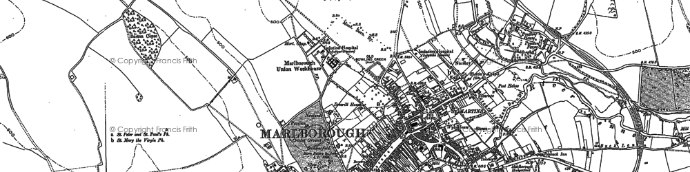 Old map of Marlborough in 1899