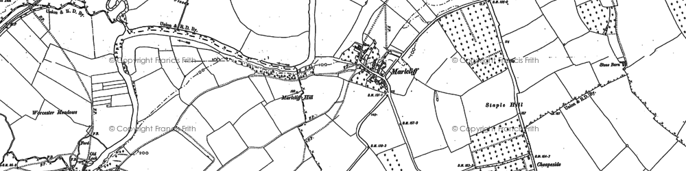 Old map of Marlcliff in 1883