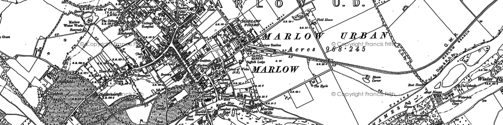 Old map of Marlow in 1897