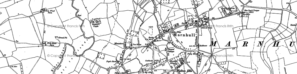 Old map of Marnhull in 1900