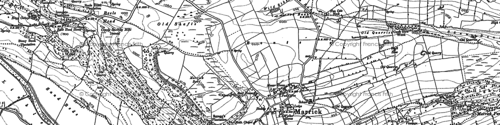 Old map of Marrick in 1891