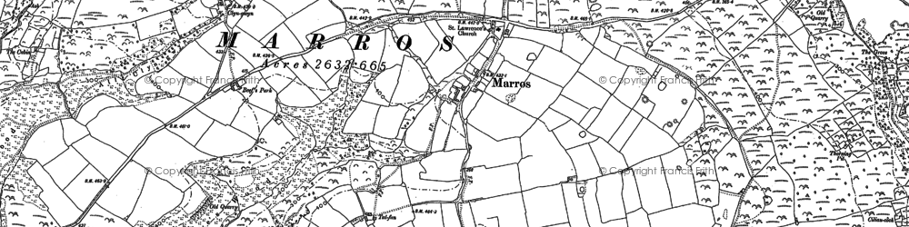 Old map of Marros in 1905