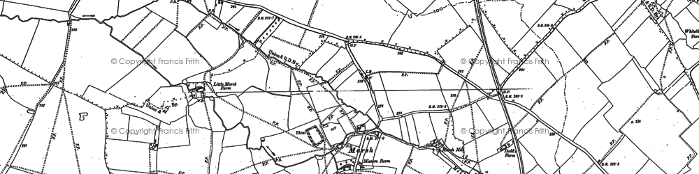 Old map of Marsh in 1897