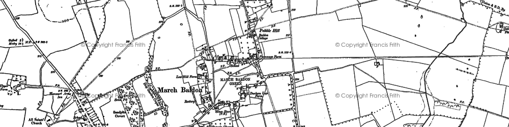 Old map of Baldon Brook in 1897