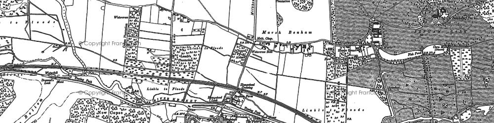 Old map of Benham Park in 1898