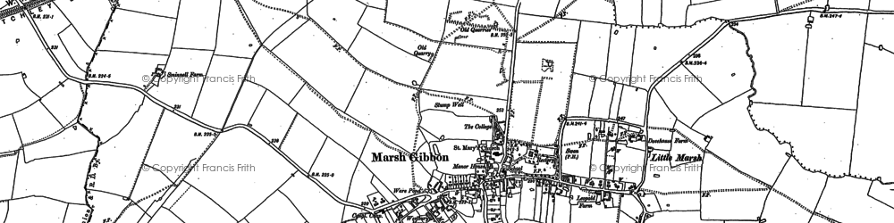 Old map of Town's End in 1898