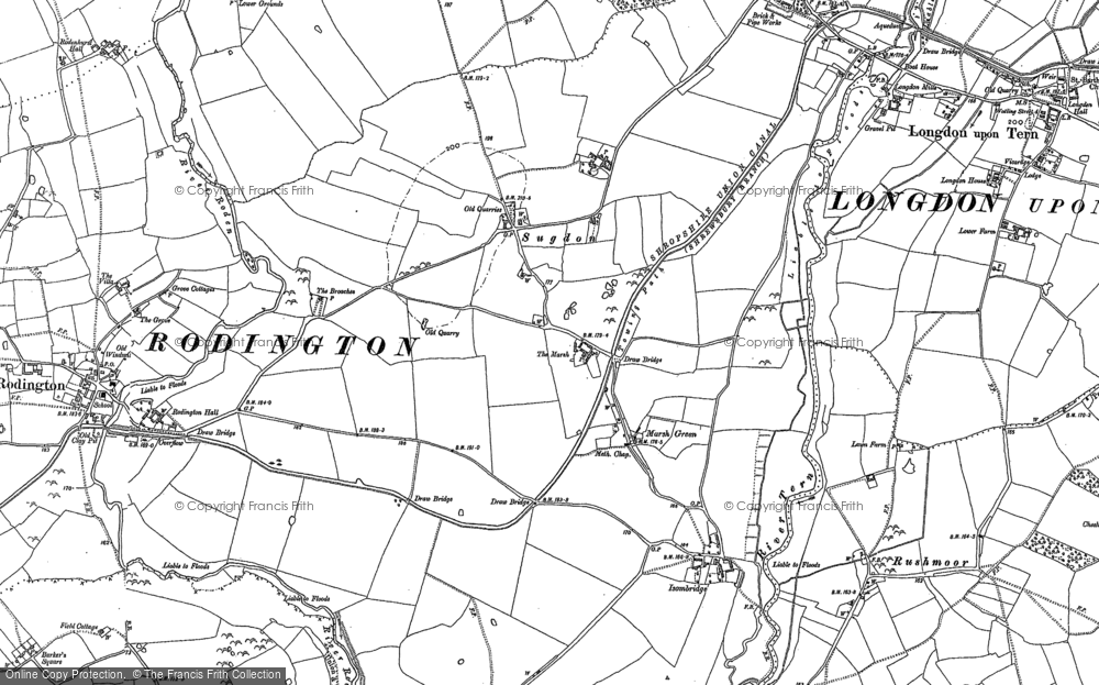 Old Map of Marsh Green, 1881 in 1881